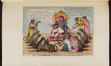 Napoleon surrounded by mice.