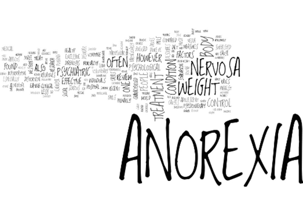 "Word cloud with the word ""Anorexia"" in title"