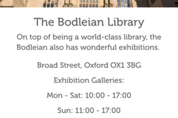 bodleian library talk about