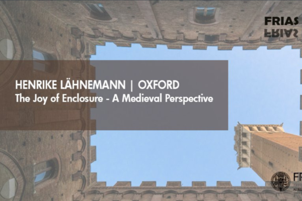 Cover image. Looking up from the interior of a closed courtyard
