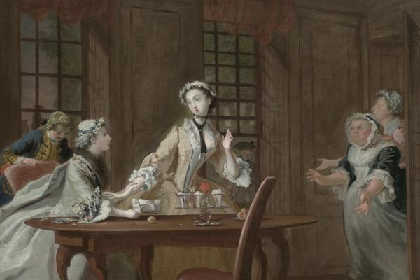 Painting of women around a table