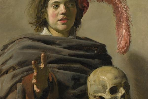 young man with a skull frans hals national gallery london