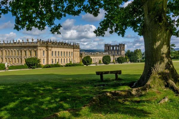 Chatsworth house from its garden.