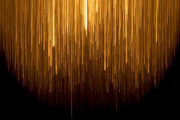 Yellow rays of light