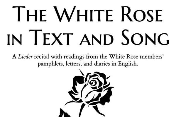 white rose recital poster