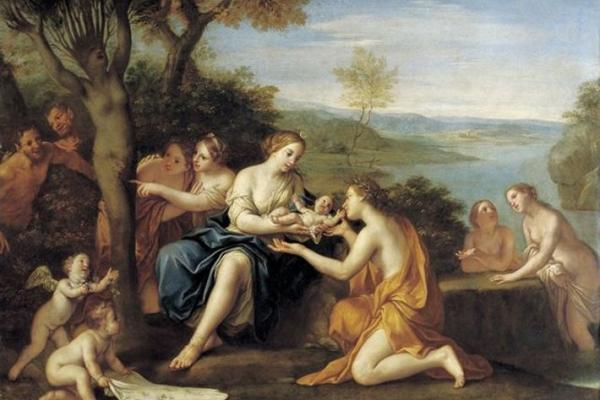 birth of adonis oil on copper painting by marcantonio franceschini c 1685 90 staatliche kunstsammlungen dresden