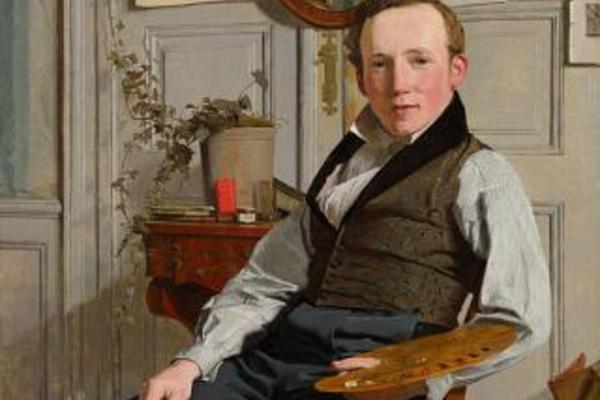 portrait of the landscape painter frederik sodring  christen kobke  google cultural institute