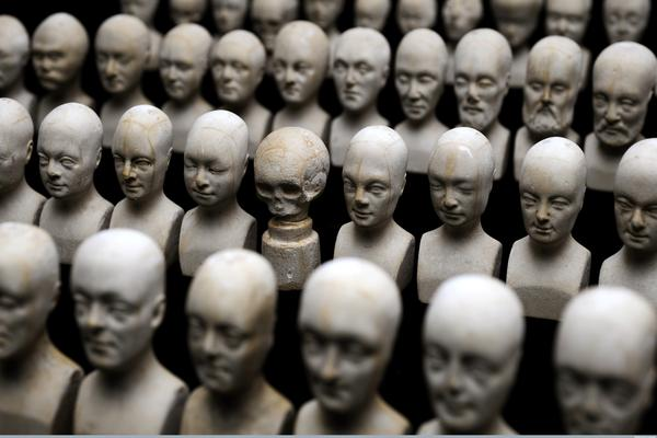 set of heads used in phrenology manchester
