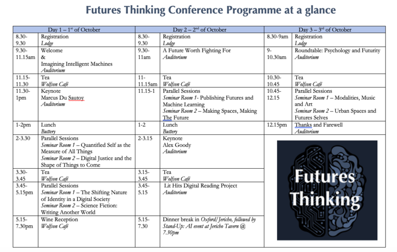 programme at a glance futures thinking conference