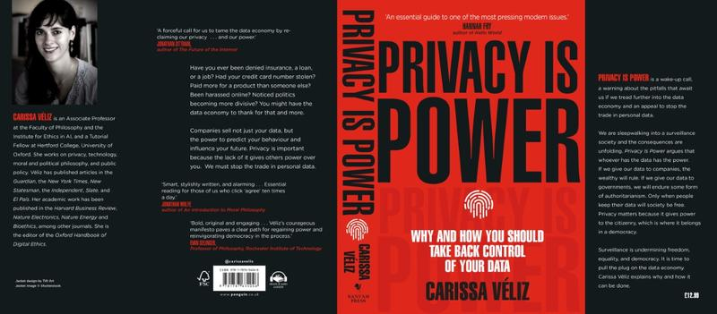 thumbnail privacy is power book cover - Clarissa Veliz