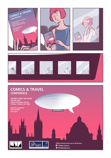 comics travel conference comic poster digital version