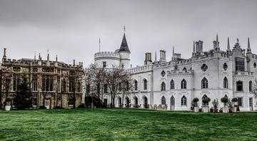Strawberry Hill House on a cloudy day