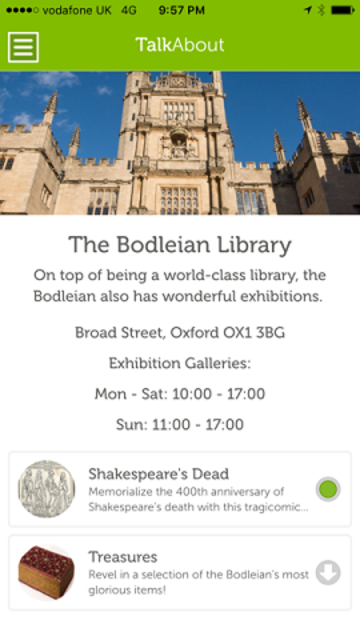 Launch of TalkAbout Tour Guide App at Bodleian | TORCH | The