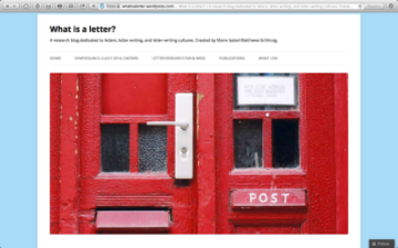 what is a letter