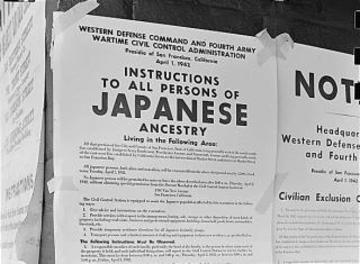 Posted Japanese American exclusion order