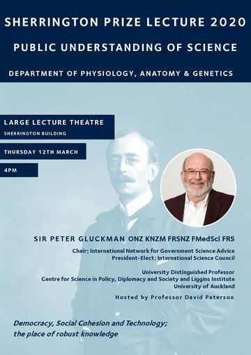 Sir Peter Gluckman poster