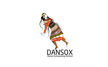 dansox logo of a person with long hair dancing