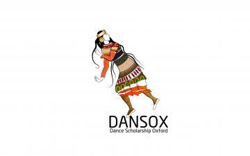 DANSOX logo, woman dancing with DANSOX wording below