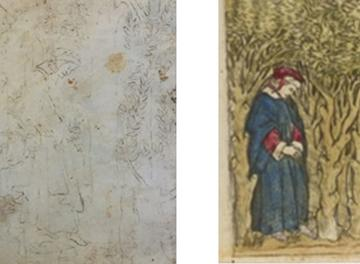 2 images showing the different artist depictions