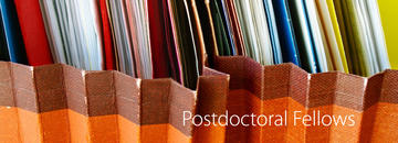 postdoctoral fellowships banner with papers in the background