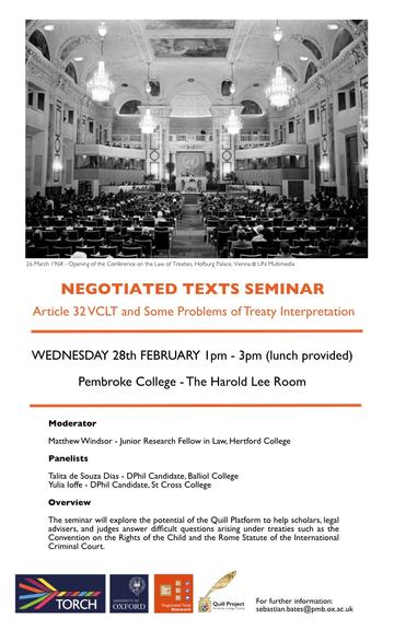 negotiated seminar