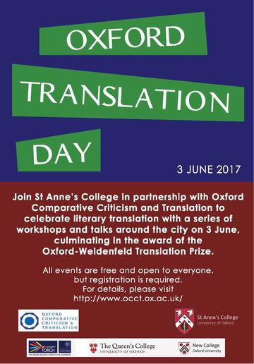 oxford translation day poster
