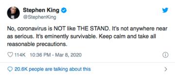Twitter Screenshot from Stephen King