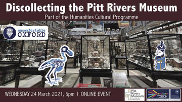 image of the interior of the Pitt Rivers Museum showing the glass cases