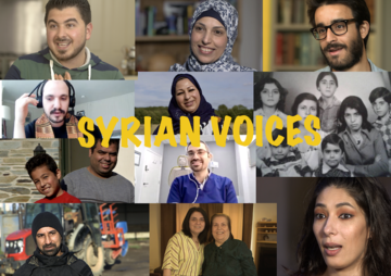 collage of different people involved with Syrian Voices project