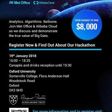 alibaba cloud  oxford university  big data event a4 poster