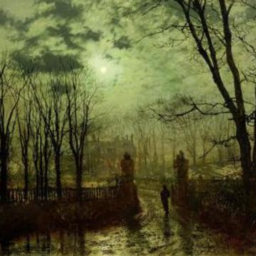 John Atkinson Grimshaw at the park gate 1878