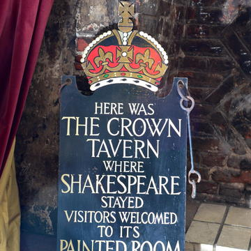 painted room sign  for 2016 shakespeare invitation