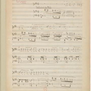 Music sheet showing Debussy's setting of Verlaine's Ariettes oubliées.