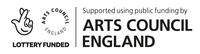 Text reads: Supported using public funding by Arts Council England