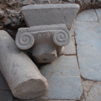 Late antique architectural decoration at Aphrodisias displaying broken columns