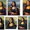different images of the Mona Lisa with different shades and faces