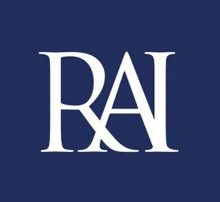 RAI logo small letters white on blue